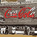 Hunter's Drug Store Coca-cola Mural Greensboro Georgia Marion Post Wolcott Fsa Spring 1939-2014  by David Lee Guss
