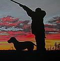 Hunting At Sunset by Hilari Alsip