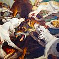 Hunting Dogs Detail 2 by Alexandre Francois Desportes