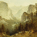 Hunting In Yosemite by Thomas Hill