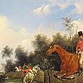 Hunting Scene by Bernard Edouard Swebach
