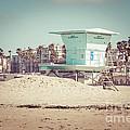 Huntington Beach Lifeguard Tower #5 Retro Picture by Paul Velgos