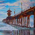 Huntington Beach Pier 2 by Carol Tsiatsios