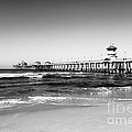 Huntington Beach Pier Black And White Picture by Paul Velgos