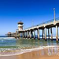 Huntington Beach Pier In Southern California by Paul Velgos