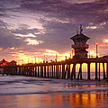 Huntington Beach Pier Sunset by Dung Ma