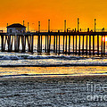 Huntington Beach Sunset by Jim Carrell