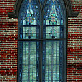 Stained Glass Arch Window by Lesa Fine