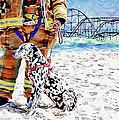 Hurricane Sandy Fireman And Dog  by Jessica Cirz