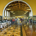 Hussel And Bussel At The Union Train Station Los Angeles Ca by David Zanzinger