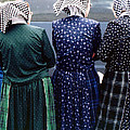 Hutterite Women At The Market by Gerry Bates