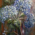 Hydrangea Bouquet At Dawn by Eloise Schneider Mote