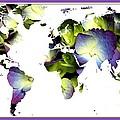 Hydrangea World Map by Rose Santuci-Sofranko