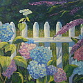 Hydrangeas Fence by Lee Riggs