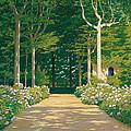 Hydrangeas On A Garden Path by Santiago Rusinol i Prats