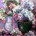 Hydrangeas Still Life Pink by Patrice Torrillo