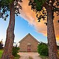 Hygiene Colorado Church Of The Brethren 1880 Sunset by James BO  Insogna