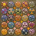 Hyperbolicrochet Kaleidoscope Quilt by Ann Stretton