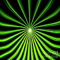 Hyperspace Electric Green Square by Pet Serrano