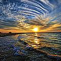 Hypnotic Sunset At Israel by Ron Shoshani
