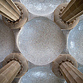 Hypostyle Room Ceiling In Park Guell by Artur Bogacki