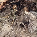 I Am That Merry Wanderer Of The Night by Arthur Rackham