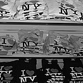 I Heart Ny In Black And White by Rob Hans