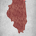 I Love Chicago Illinois - Red by Aged Pixel
