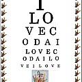 I Love Coda Eye Chart by Eloise Schneider Mote