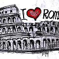 I Love Rome by Sladjana Lazarevic