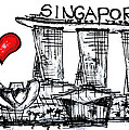 I Love Singapore by Sladjana Lazarevic