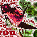 I Love You Only Abstract by Bill Owen