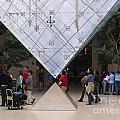 I M Pei Pyramid Inside The Louvre Entrance by Thomas Marchessault
