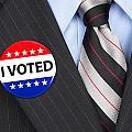 I Voted Pin On Lapel by Joe Belanger
