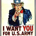 I Want You For U S Army by US Army WW I Recruiting Poster
