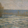 Ice Breaking Up On The Seine by Claude Monet