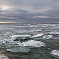 Ice Breakup At Cave Point by Theo O Connor
