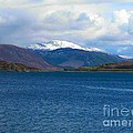 Ice Capped Mountains At Ullapool by Joan-Violet Stretch