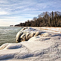 Ice Covered Shores Of Lake Michigan by Nikki Vig