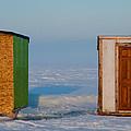Ice Fishing Huts Canada Macro by Derek Grant