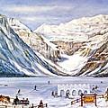Ice Magic-lake Louise Winter Festival by Virginia Ann Hemingson