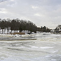 Ice On The Ipswich River by David Stone