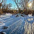 Ice Pond Sunset by Baywest Imaging