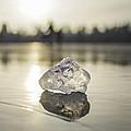 Ice Puck On Little Rock Lake by Alex Blondeau