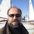 Ice Sailing On The Hudson Beard Contest by Anna Ruzsan