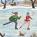 Ice Skaters by Linda Mears