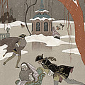Ice Skating On The Frozen Lake by Georges Barbier