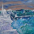 Iceberg Awaits The Titanic by Carl S Kralich