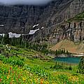 Iceberg Park Tarn Glacier National Park Montana by Ed  Riche