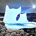 Icebergs At Sunset by Barbara Griffin